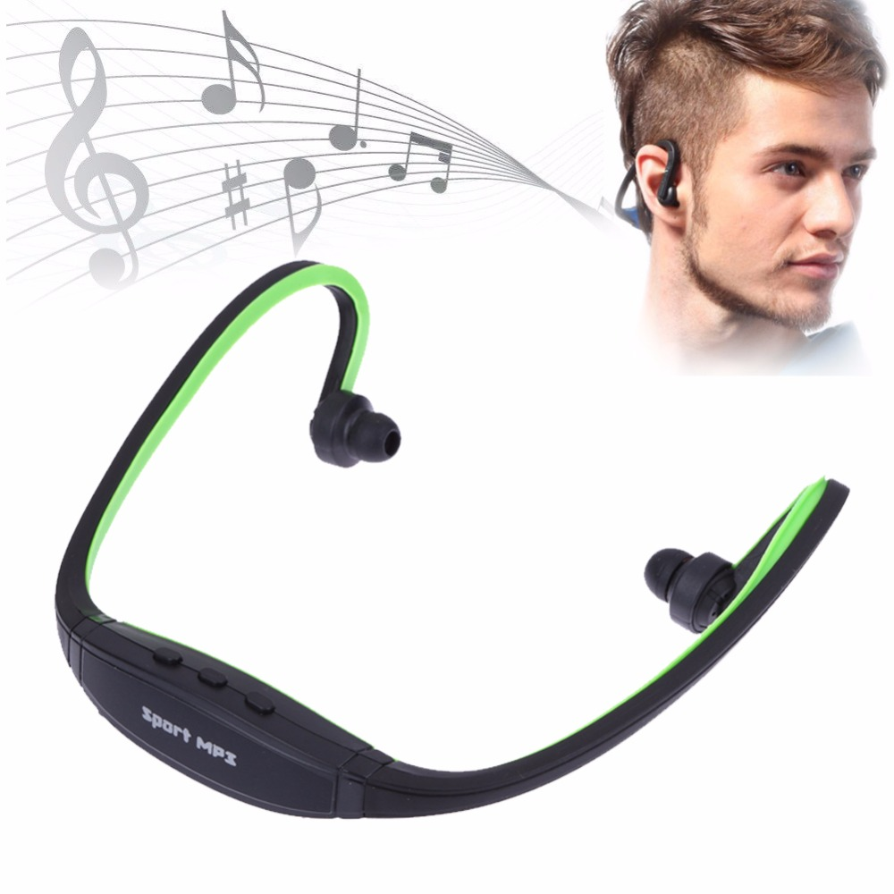 Wireless Sport Headphone Player with Micro SD TF Headset Earphone Headphones Music MP3 Player for Iphone