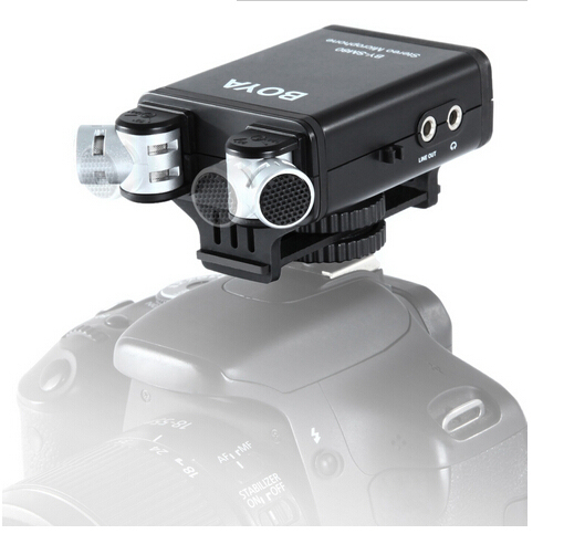Camera Microphones BOYA BY-SM80 Stereo Video Microphone with Windshield for Canon Nikon DSLR Camera Camcorder