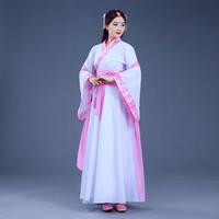 Chinese Traditional Women Hanfu Dress Chinese Fairy Dress Red White Hanfu Clothing Tang Dynasty Chinese Ancient Costume