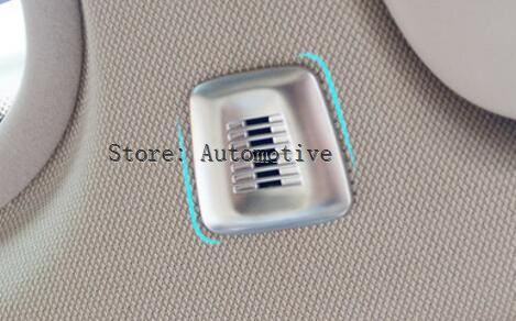 2pcs Car Roof Microphone Cover Trim ABS Chrome For BMW X1 F48 X3 f25 X5 f15 GT 1 <font><b>3</b></font> <font><b>5</b></font> Series f20 f30 f10 118i 120i Accessories image