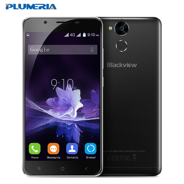 "New Original Blackview P2 4G Mobile Phone 5.5"" FHD MTK6750T Octa Core Android 6.0 4GB RAM 64GB ROM 13MP 6000mAh Fingerprint"