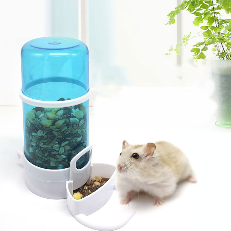 Pet Feeder Hamster Rabbit Guinea Pigs Food Automatic Dispenser Feeder Food Bottles Dispenser Feeding Bowl Dish For Small Pet