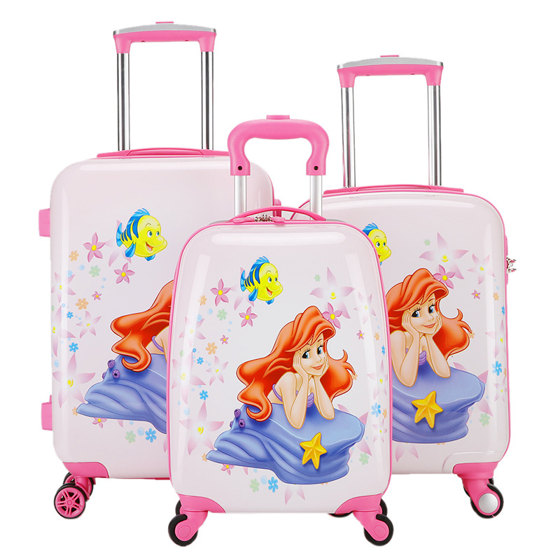18,19,20 Inch Mermaid Rolling Luggage/Girls Princess Carry On ...