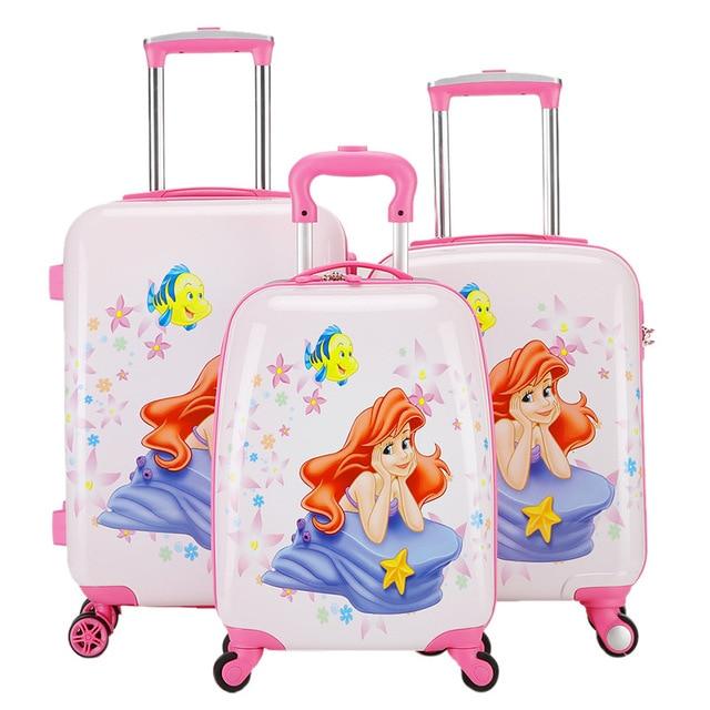18 19 20 Inch Mermaid Rolling Luggage Girls Princess Carry