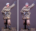 Resina Kits de montagem 1/16 WSS Granadeiro Wiking soldado 90mm Sem Pintura Kit Resina Modelo Frete Grátis