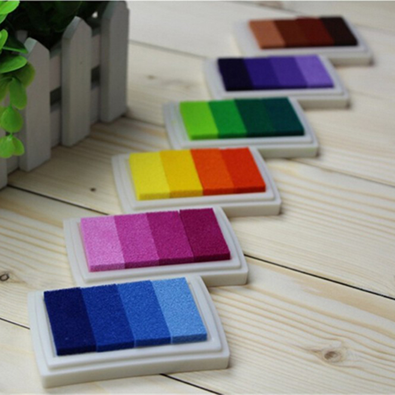 2016 New 6 Colours New Fresh Candy Color Ink Pad / Ink Stamp Pad / Inkpad Set For DIY Funny Work For Wedding Party