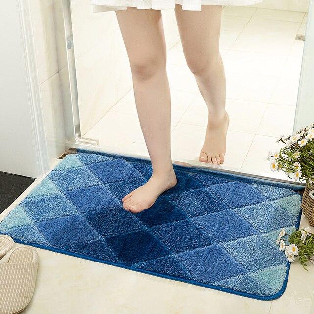 Colorful Bathroom Carpet For Decor Bathroom & Kitchen Carpet In Room Bathroom Carpet For Toilet Anti-slip Bath Mats Door Mats