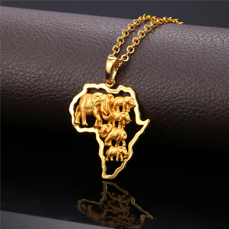 africa map jewelry