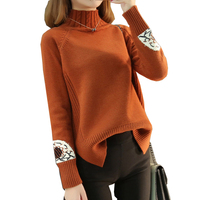 Women Turtleneck Autumn Winter Sweater Women 2018 Long Sleeve Thick Knitted Sweaters Pullovers Jumper Tricot Tops Female YM813