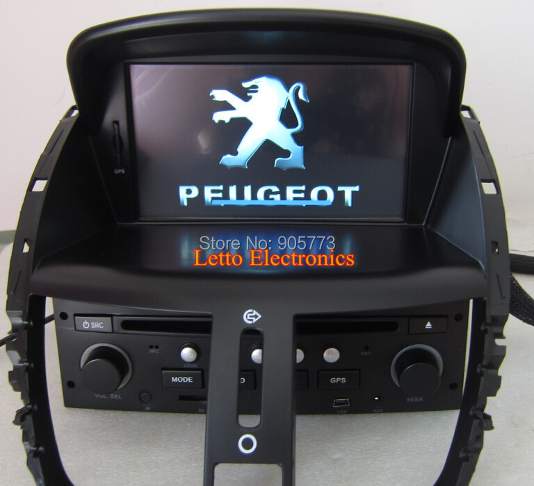 Peugeot 207 Car Stereo With Gps Bluetooth Ipod Radio Rds Touch Screen Canbus Steering Wheel