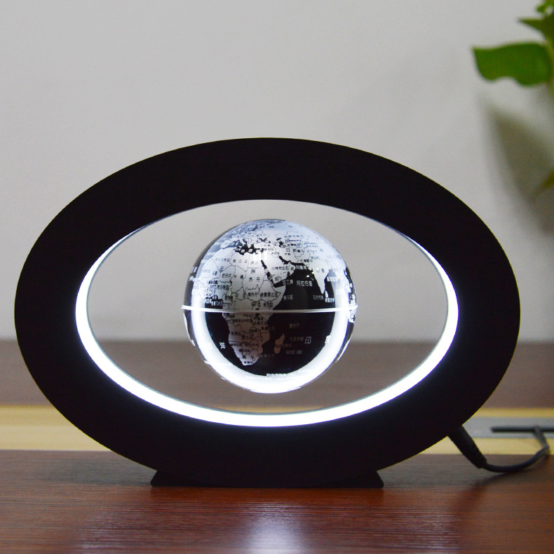 3 circular globe Novelty gifts Home ornament decor Magnetic levitating lamp Creative novelty lights Levitation floating globe