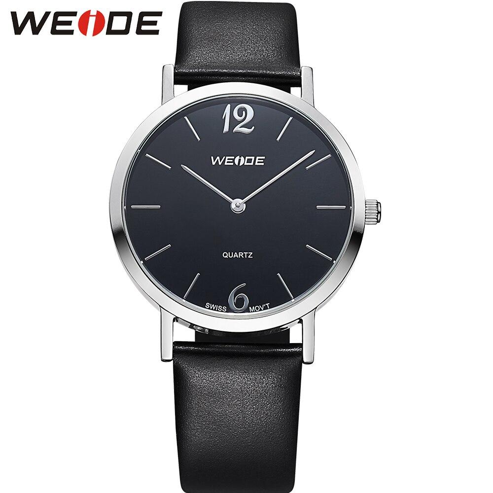 ФОТО WEIDE Popular Brand Steel Simple Watches Men Luxury Analog Display Quartz Movement Black Dial Casual Style Relogio Masculino