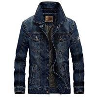 Casual Denim Jackets Men M 4XL Blue Jean Men Jacket Turn Down Collar High Quality Man