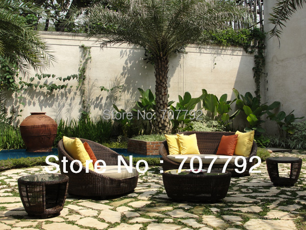 New Design Outdoor Round Wicker French Country Furniture(China (Mainland))