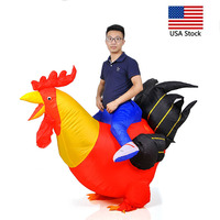 Inflatable Cock Chook Chicken Halloween Costumes for Women Cosplay Fancy Dress Rooster Costumes Hen Halloween Costume for Adult