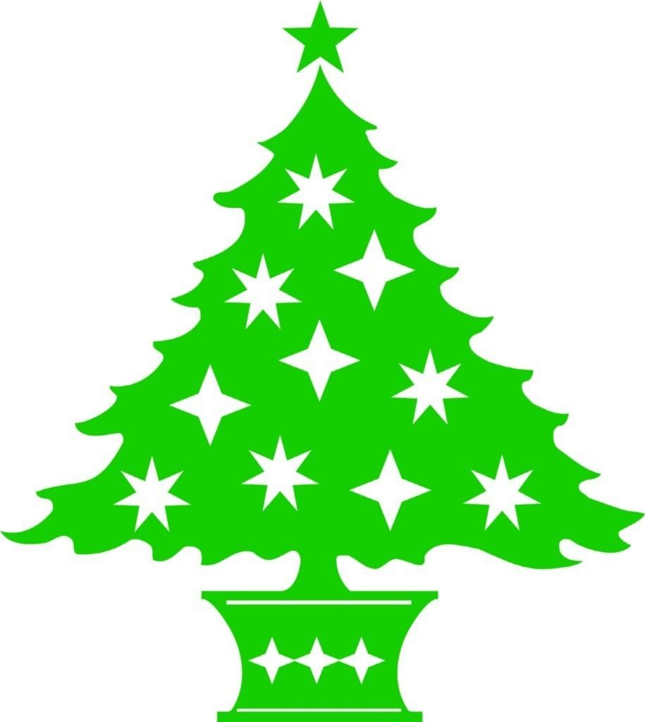 Bright Green Christmas Tree Vinyl Wall Decal / Holliday Decor ...
