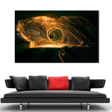 QCART Wall Art Picture Home Decor Living Room Abstract Fountains Fish  Modern Canvas Print Painting No Frame