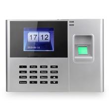 2,8 дюймов TFT ЖК-экран DC 5V устройство записи сотрудников электронный биометрический отпечаток пальца пароль посещаемость машины