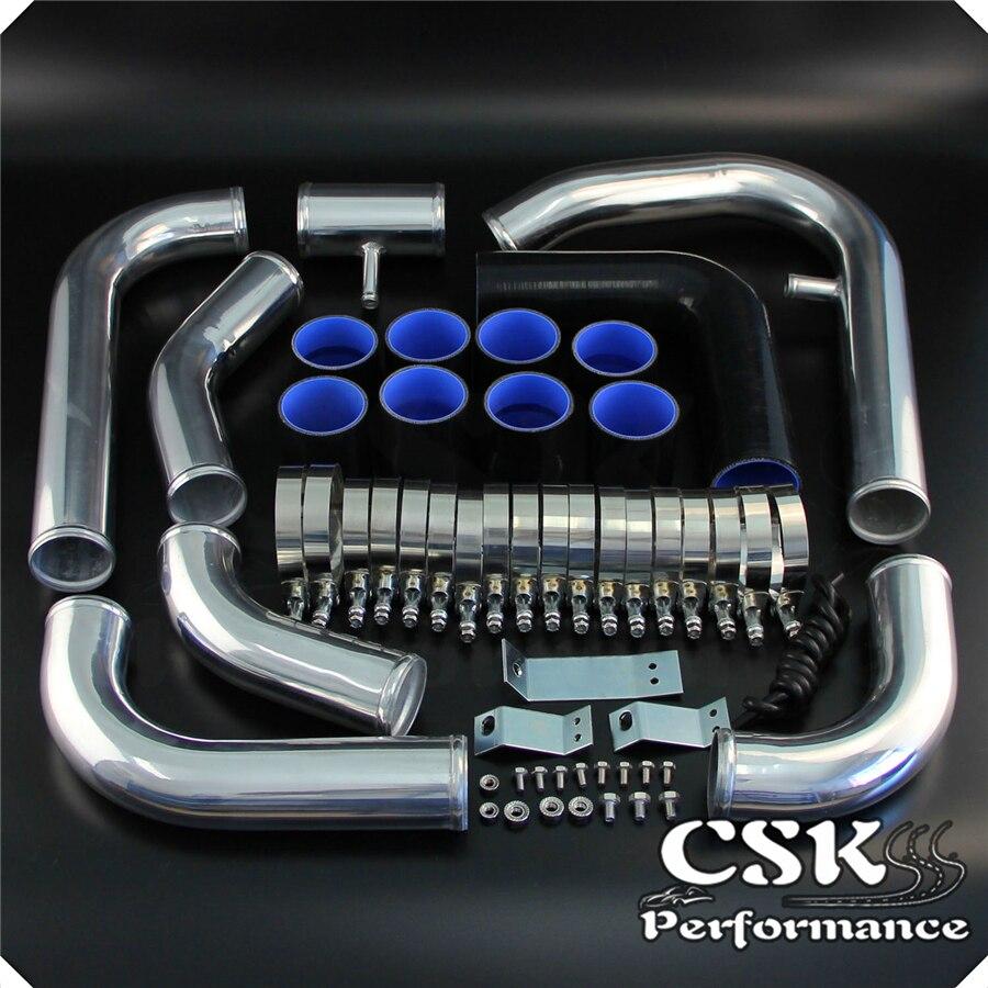 Blue Front+Rear Stainless Steel Hose Brake Line Kit for  Toyota 94-99 Celica GT