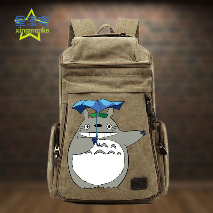 Anime Backpack Tonari no Totoro COSPLAY Creative Simple Casual Fashion Retro College Style Men&Women Canvas Backpack anime tonari no totoro cosplay canvas shoulder bag female japanese and korean college wind travel backpack student bag graffiti