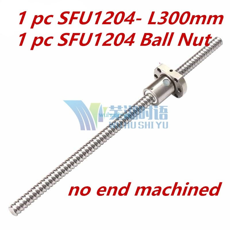 1204 Ball Screw SFU1204 300mm Rolled Ballscrew with single Ballnut for CNC parts chinese goingbi book drawing flowers and plants learn how to coloring textbook