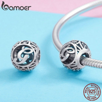 BAMOER Hot Sale 925 Sterling Silver Letter Collection A to Z Alphabet Charms Beads 3