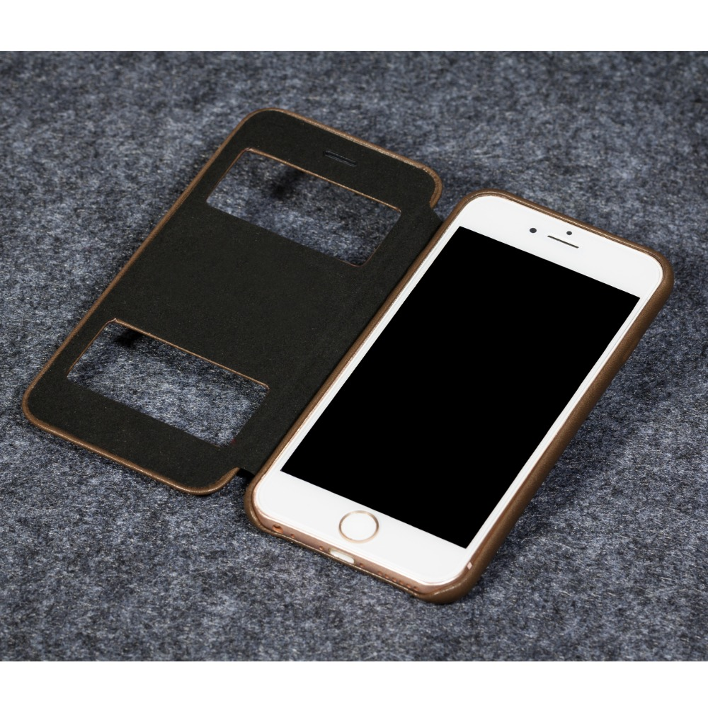 Telefon fall für Apple iphone 6/6 s Luxus Echtem leder super slim profil brieftasche fall abdeckung - 2