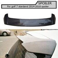 Carbon Fiber Rear Roof Lip Spoiler For Volkswagen VW Golf 7 VII MK7 Standard Non R Non GTI 2014 2018