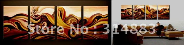 Stretched / Framed painting .Modern Oil Painting On Canvas Ready to Hang Group27