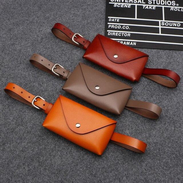 Модные однотонные Поясные сумки Для женщин из натуральной кожи Съемная Для женщин ремень сумки небольшой тонкий ремень женщина Fanny Pack сумка Роскошные телефон для монет