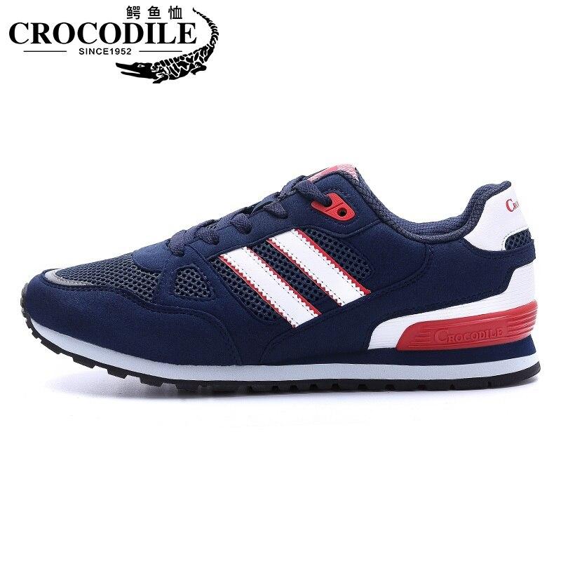 Crocodile Men Running Sneakers Shoes Men Air Mesh Breathable Tennis Hombre Trainer Jogging Athletic Sport Shoes
