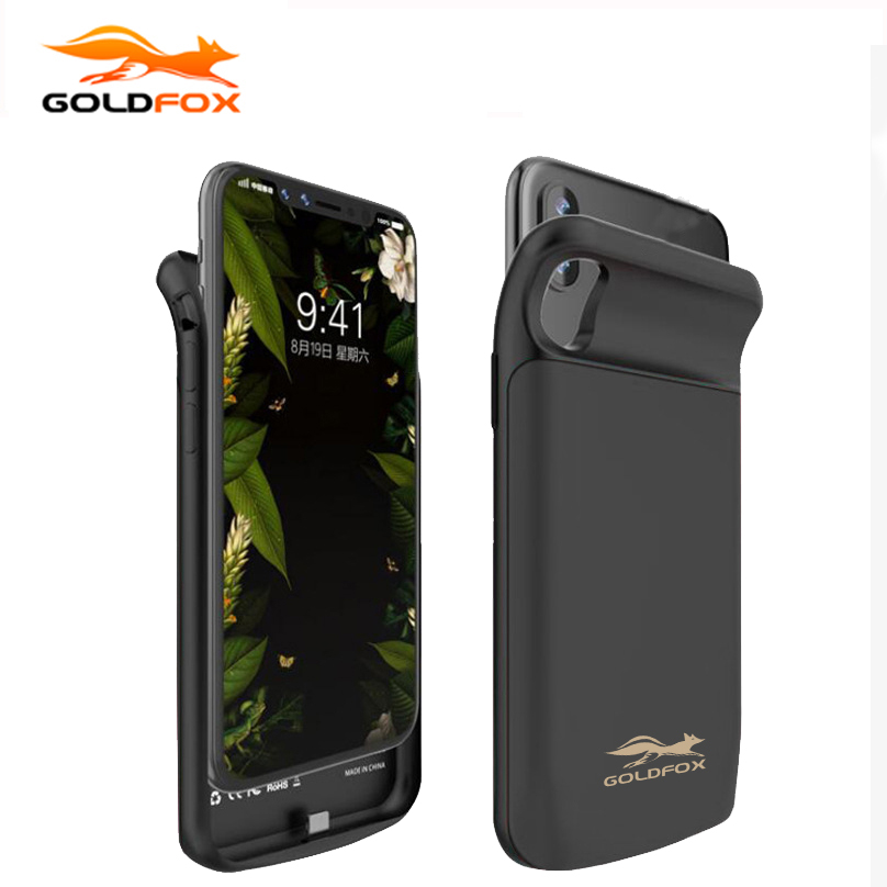 GOLDFOX Portable Charging Case For iphone X 6000mAh Battery Power Bank Case Cover for iphone X Battery Charger Case