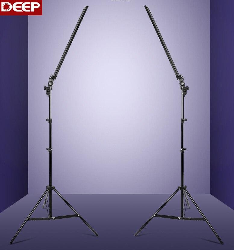 2 шт./лот 30 Вт/шт. 5500 К Стандартный фотостудия Профессиональный светодио дный полоски группа фотографии алюминиевая крышка диммер 2 свет стен...
