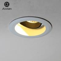 Aisilan Downlight 7W Round Recessed Lamp AC 90 260V Led Spot light Bedroom Kitchen Indoor LED Spot Lighting