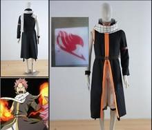 CostumeBuy аниме Сказочный хвост косплей Etherious Natsu Dragneel косплей костюм третьего поколения черный длинный Тренч для вечеринки на Хэллоуин