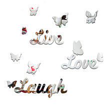 letter mirror wall sticker promotion shop for promotional letter