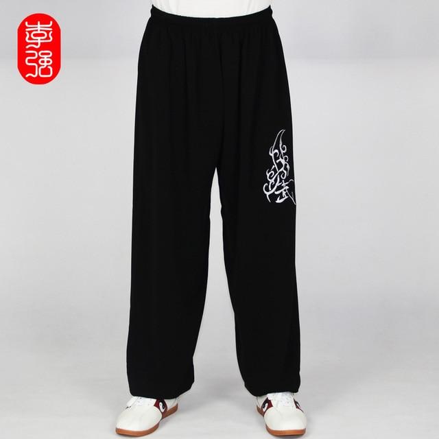 Практикует Тай-Чи брюки брюки мужчины и женщины вышивка хлопок брюки брюки костюм брюки Ушу Тайцзицюань Упражнения