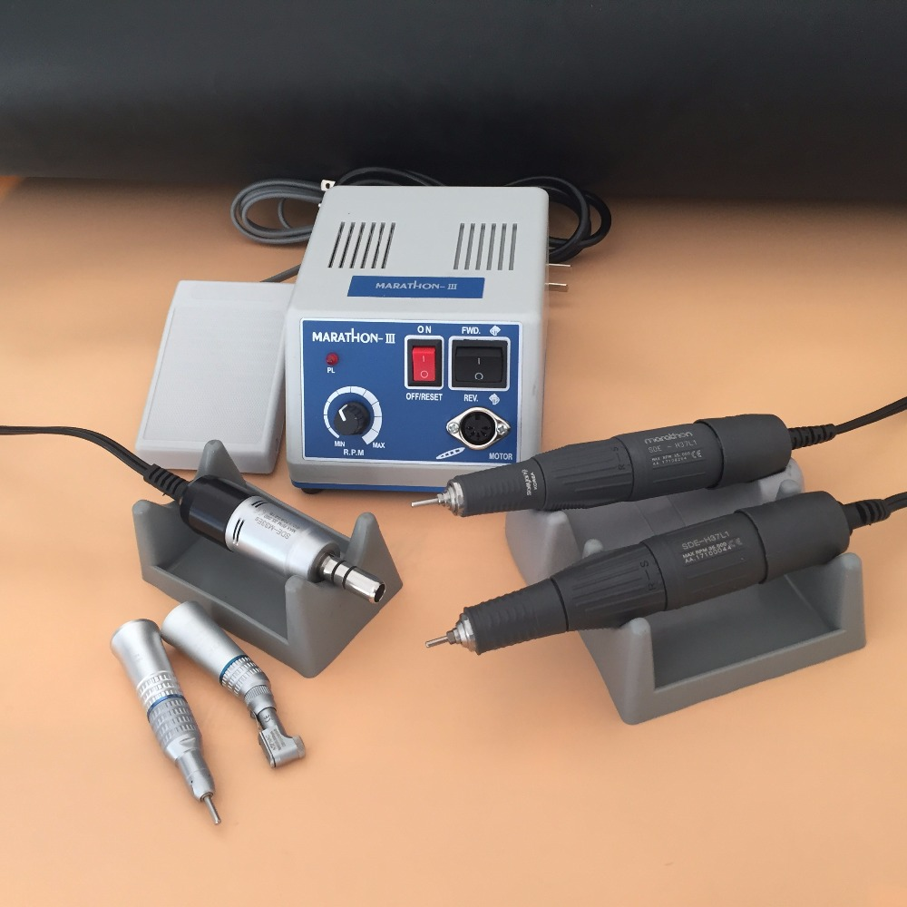 Dental Lab MARATHON Micromotor Machine N3 +35000rpm 45000RPM Handpiece Straight Contra Angle Handpiece