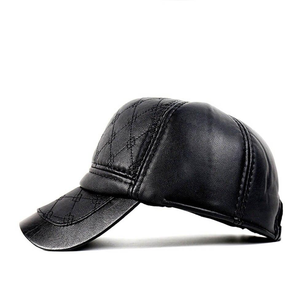 3ad95d72916 2017 Sports Cap PU Black Baseball Golf Hats Women Men Fall Leather Trucker  Cap Hiking Camping Fishing Snapback Winter Spring Hat-in Golf Caps from  Sports ...