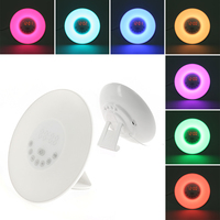 Oobest High Quality Sunrise LED Lights With Digital Alarm Clock Wake Up FM Radio Colorful Light
