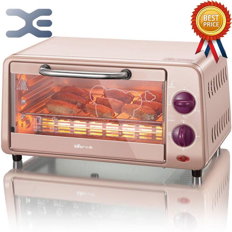 Печь для пиццы конвекционная коптильня мини печь 9л бытовая техника высокое качество электрическая печь