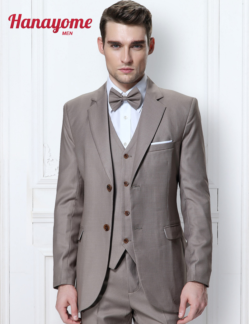 Aliexpress.com : Buy Heather Grey Man Suit Champagne Mens Suits ...