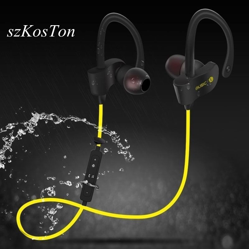 szKosTon Wireless Bluetooth Earbuds Sports Sweat proof Stereo Earphone In-Ear Earphones with Mic Headset for iPhone & Smartphone