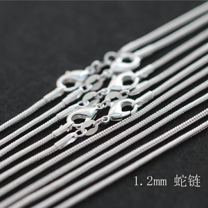 Wholesale Price 10pcs/lot Snake Chain Necklaces Pendant 925 Sterling Silver Women Men Classic Jewelry
