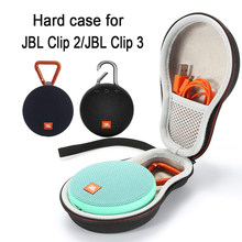 Hard Case Travel Carrying Opbergtas voor JBL Clip 2/Clip 3 Draadloze Bluetooth Draagbare Speaker. Past USB Kabel(China)