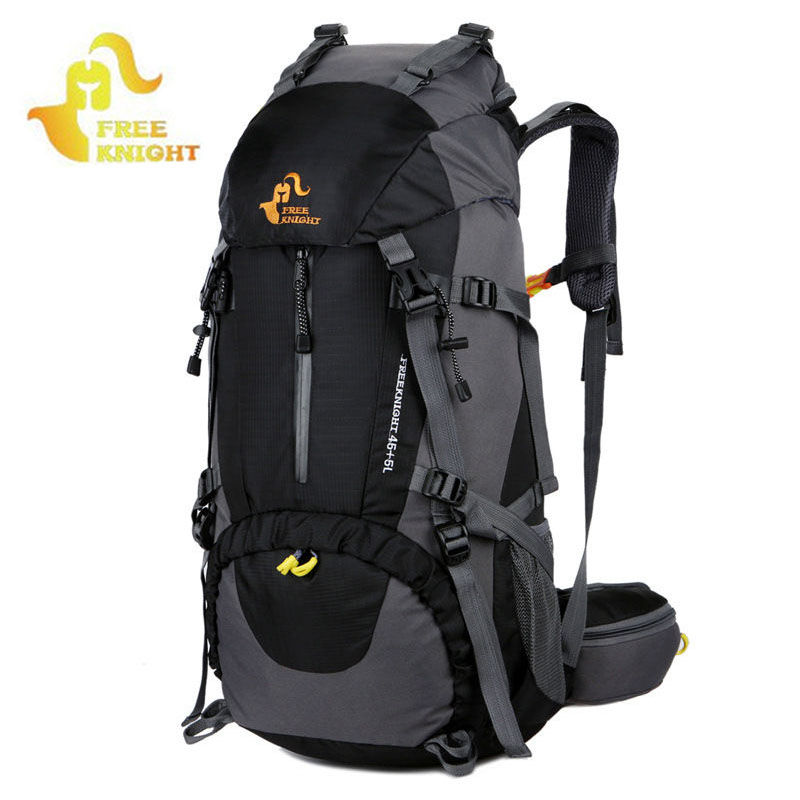 50L Camping Mountaineering Backpack for Hiking Climbing Backpacks Men Rucksack Waterproof Outdoor Bag With Rain Cover XA211WA