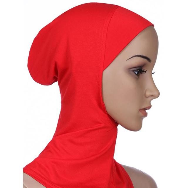 Full Cover Inner Muslim Cotton Hijab Cap Islamic Head Wear Hat Underscarf