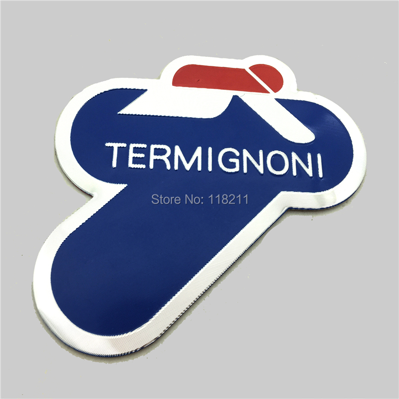3D Universal Sticker Aluminium Heat-resistant Motorcycle Exhaust Pipes Decal Sticker Cool Personality For Termignoni Sticker