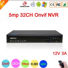 8mp/5mp/4mp/3mp/2mp/1mp IP Camera Blue-Ray Panel Hi3536C XMeye 5MP 32CH 32 Channel WIFI Onvif NVR free shipping