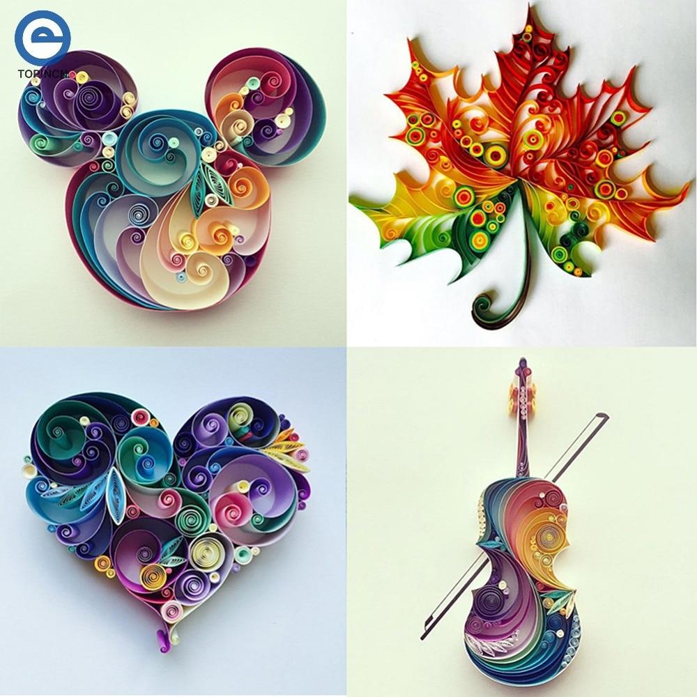 6 In 1 DIY Quilled Creation Paper Craft Paper Scrapbook ...